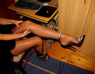 Peavey Pantyhose Suntan Q XL lingerie work Play Hooters Uniform tights 20 (Fun Tights)