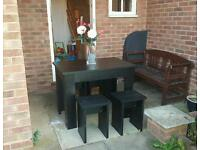Argos black space saver table and 4 stools