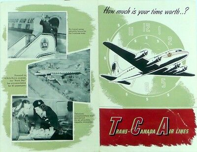 Trans Canada Airlines Timetable   Promotional Brochure