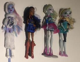 Monster High Dolls - 4 off