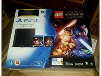 Sony Ps4 console with lego star wars and Blu-Ray movie