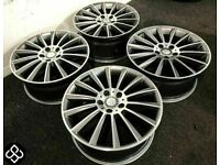 """NEW MERCEDES 18"""" 19"""" 20"""" AMG STYLE ALLOY WHEELS - 5 x 112 - DIAMOND CUT FINISH - FREE DELIVERY"""