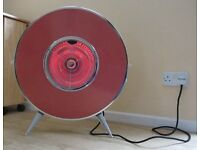 """1950`s Sofono """"flying saucer"""" dual element electric fire"""