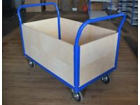 BigDug Heavy Duty Platform Truck Trolley Cart With Full Height Plywood Panels - was £334