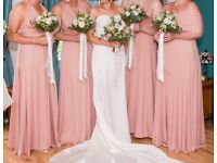 4 multiway bridesmaids dresses rose gold