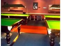 Snooker tables full size