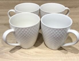 Set of 4 mugs white