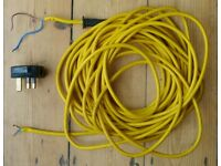 Cable Replacement for Cut / Damaged electric lawnmower/strimmer, Used