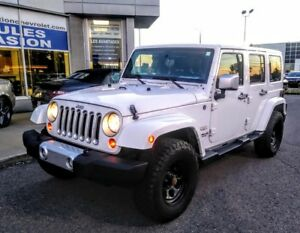 2012 JEEP WRANGLER UNLIMITED 4 DR SAHARA 2 TOIT,AUTO,AIR,GR ELEC