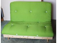 Futon - folding bed/sofa with mattress