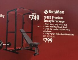Bodymax CF485 Premium Strength Multi Gym (Squat Rack, Barbell, Weights, Bench, 10 rubber floor mats