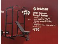 Bodymax CF485 Premium Strength Multi Gym (Squat Rack, Barbell, Weights, Bench, 10 rubber floor mats