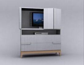 TV cabinet Ikea Large White Bjornholmen, please see added photo for fuller description