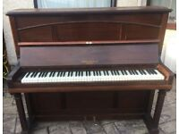 Saville Upright Brown Piano Fully Working Excellent Cheap Beginners' Piano FREE LOCAL DELIVERY