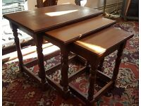 Nest of 3 Small-Medium sized wooden coffee/side tables