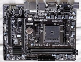 Gigabyte GA-F2A88XM-DS2 DDR3 Socket FM2 FM2. Sold for parts not working