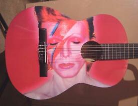 DAVID BOWIE COOL AMAZING GUITAR FULL SIZE CLASSICAL GUITAR