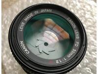 50mm f1.2 lenses (Canon FD L, Minolta Rokkor 58, Pentax Asahi 50, Olympus Zuiko 55)