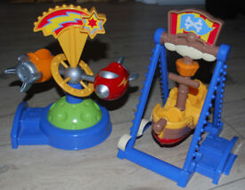 Happyland Funfair - Pirate Boat Ride and Spinning Rocket Ride - Early Learning Centre