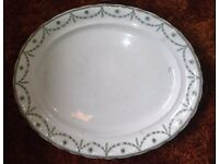 A vintage oval meat plate Manufactured for Harrods Ltd