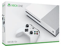I HAVE A BRAND NEW XBOX ONE S 500GB, NEVER BEEN OUT THE BOX AND WILL COME WITH ONE BOXED GAME