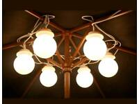 Large White Globe lights for Marquee and Gazebo Garden Party Event