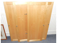 Doors for Ikea Billy Bookshelves - Birch - £25 a pair