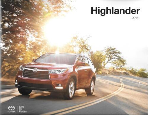 2016 16 Toyota  Highlander  oiginal sales brochure