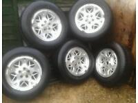 """5 X 4X4 5 STYD 16"""" ALLOY WHEELS WITH 225 / 70 R16 TYRES"""