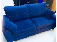 Nice blue fabric sofa in good state