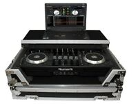 Numark Mixdeck Controller DJ Flight Case+Laptop Shelf