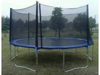 12ft trampoline with side gaurds and top cover