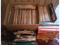 Huge Lot of Over 300 Vintage Vinyl Records - 50s/60s