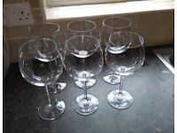 Set of 6 large wine goblets