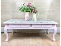 Pretty Coffee Table Painted Shabby Chic