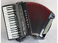 New - Manfrini Ochil 34 / 96 - 3 Voice - Top Quality Light Weight Italian Accordion