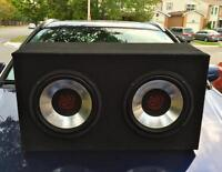 Sub Woofer and Pioneer Deck