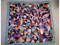 Antique SILK Patchwork Quilt