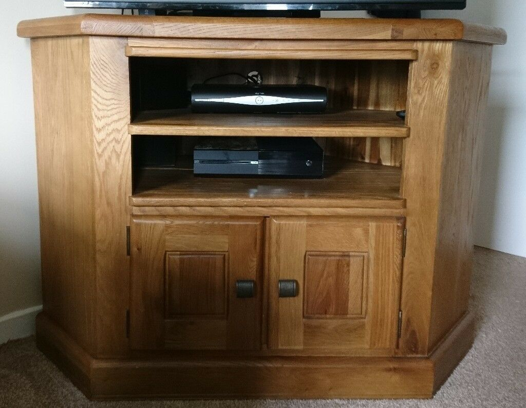 Corner Tv Unit Solid Wood In Hawick Scottish Borders