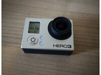 GoPro Hero 3 Black with Accessories including Selfie Stick! (In Excellent Condition!)
