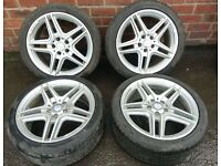 Mercedes C-Class W204 AMG Set of Alloy Rims and Tyres (F9)