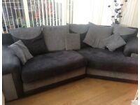 Charcoal and grey sofa excellent condition