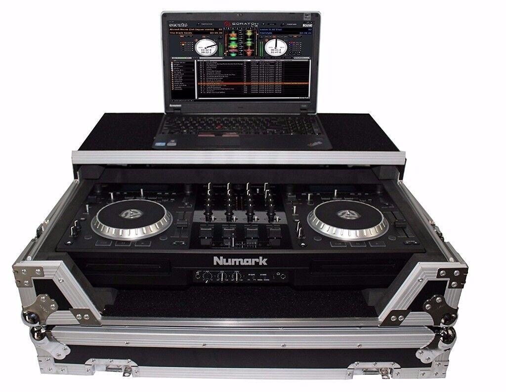 Numark Mixdeck Controller DJ Flight Case+Laptop Shelf £700
