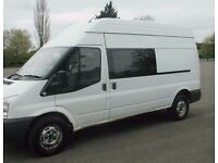 2009 58 ford transit crew cab van factory fitted 6seater