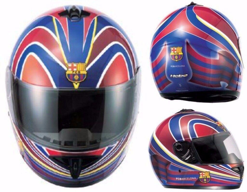 Motorcycle Helmet Full Face Official FC Barcelona Scooter Crash Helmet Motorbike Hebo