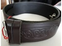 Brown Leather Kilt Belt