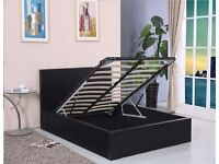 BRAND NEW OTTOMAN STORAGE DOUBLE BED FRAME BLACK / BROWN /WHITE