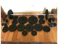 Exercise Weight lifting set