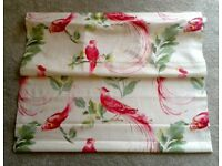 New Laura Ashley Roman Blind - Lined 87cm x 84cm - Harewood Pink Grapefruit fabric