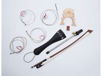 Gear4Music 4/4 or 3/4 double bass bow, french style, hardwood and horsehair